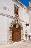 Bishop's palace. Ostuni. Puglia. Italy. — Stock Photo