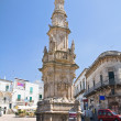 Spire of St. Oronzo. Ostuni. Puglia. Italy. — Stock Photo
