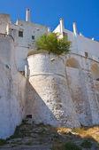 Murallas fortificadas. ostuni. puglia. italia. — Foto de Stock