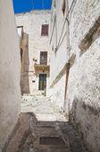 Alleyway. Ostuni. Puglia. Italy. — Stock Photo