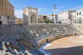 Romerska amfiteatern. Lecce. Puglia. Italien. — Stockfoto