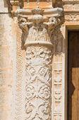 Mother Church of St. Giorgio. Melpignano. Puglia. Italy. — Stock Photo