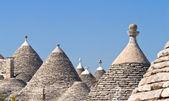 Alberobello's Trulli. Puglia. Italy. — Stock Photo