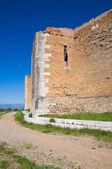 Castillo de lucera. puglia. italia. — Foto de Stock