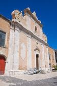 Kerk van carmine. lucera. puglia. italië. — Stockfoto