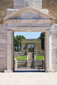 Anfiteatro de lucera. puglia. itália. — Foto Stock