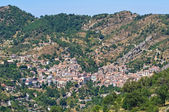 Panoramautsikt över castelmezzano. basilicata. italien. — Stockfoto