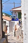 Alleyway. Vico del Gargano. Puglia. Italy. — Stock Photo