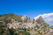 Vista panoramica di castelmezzano. basilicata. italia. — Foto Stock