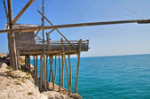 Trabucco. Vieste. Puglia. Italy. — Stock Photo