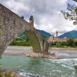 Hunchback Bridge. Bobbio. Emilia-Romagna. Italy. — Stock Photo #11612280