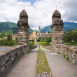 Hunchback Bridge. Bobbio. Emilia-Romagna. Italy. - Stock Photo