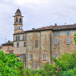 Panoramic view of Travo. Emilia-Romagna. Italy. - Stock Photo