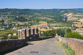 Fortified walls. Orvieto. Umbria. Italy. — Stock Photo