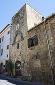 Tower of the Magistrate. Tarquinia. Lazio. Italy. — Stock Photo