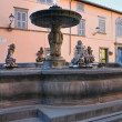 Monumental fountain. Tuscania. Lazio. Italy. - Stockfoto