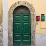 Wooden door. Tuscania. Lazio. Italy. — Stock Photo