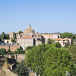 Panoramic view of Tuscania. Lazio. Italy. - Stok fotoğraf