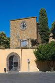 Kerk van st. croce. tuscania. lazio. italië. — Stockfoto