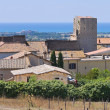 Panoramic view of Tarquinia. Lazio. Italy. - Stok fotoğraf
