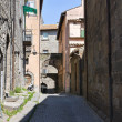 Alleyway. Viterbo. Lazio. Italy. - Stock Photo