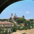 Panoramic view of Viterbo. Lazio. Italy. - Stock Photo