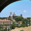 Panoramic view of Viterbo. Lazio. Italy. - Stok fotoğraf