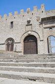 Papežský palác. viterbo. lazio. itálie. — Stock fotografie