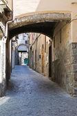 Alleyway. Viterbo. Lazio. Italy. — Stock Photo