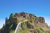 Panoramic view of Civita di Bagnoregio. Lazio. Italy. — Stock Photo