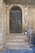 Wooden door. Montefiascone. Lazio. Italy. — Stock Photo