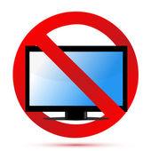 No television sign illustration design over white — Stock Photo