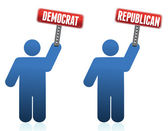 Democrat and republican icons illustration over white design — Stock Photo