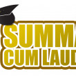 Summa cum laude graduation sign illustration design - Stock Photo