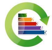 Numer cyklu kolorowy krajobraz — Zdjęcie stockowe