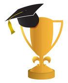 Education concept of the graduation illustration design — Stock Photo