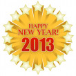 2013 Happy new years star illustration design — Stock Photo