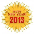 Stock Photo: 2013 Happy new years star illustration design