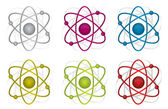 Colorful atoms illustration design over white background — Stock Photo