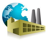 Wereld fabriek concept illustratie ontwerp over wit — Stockfoto