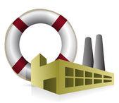 Sos fabriek concept illustratie ontwerp op witte achtergrond — Stockfoto