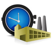 Time Factory illustration design over a white background — Stock Photo