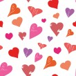 Royalty-Free Stock Vector: Seamless of Hearts