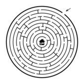 A circle maze — Stock Vector
