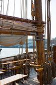 Detalle de la vieja nave — Foto de Stock