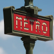 Paris Metro Sign - Lizenzfreies Foto