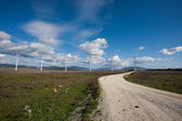 Tarifa wind mills — Stock Photo