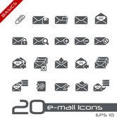 E-mail icônes // bases — Vecteur