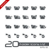Folder Icons - Set 1 of 2 // Basics — Vettoriale Stock