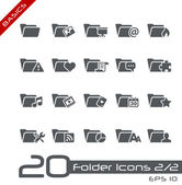Folder Icons - Set 2 of 2 // Basics — Stock vektor